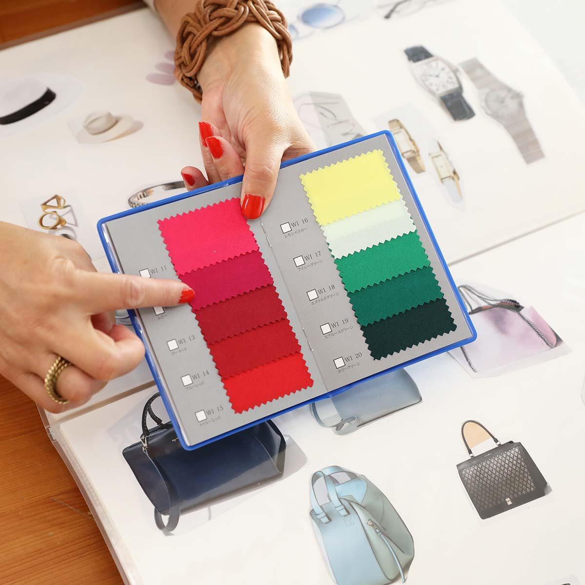 お買物時に重宝する色見本